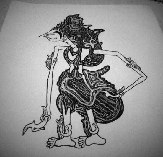 Gambar Sketsa Wayang Kresna