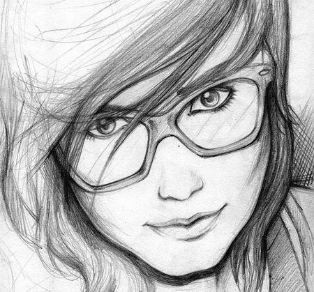 Lukisan Sketsa Wajah Pensil