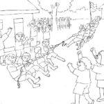 Sketsa Gambar Anak Sekolah Smp Bingkaigambarcom