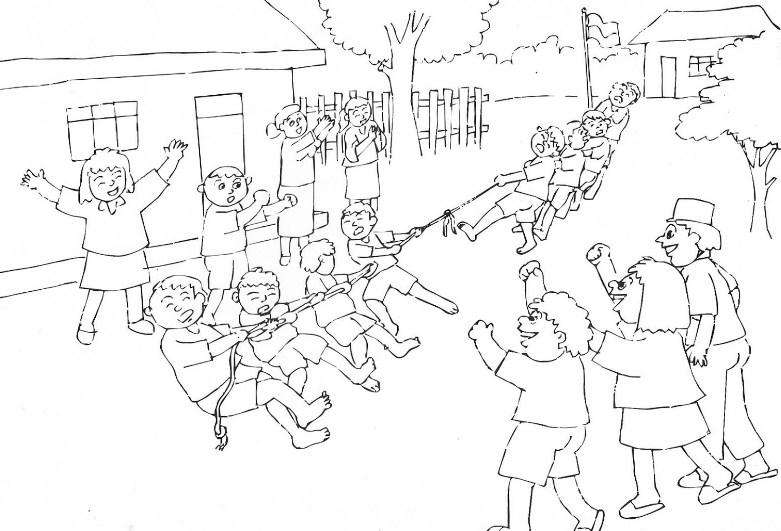 Menggambar Sketsa Lingkungan Sekolah