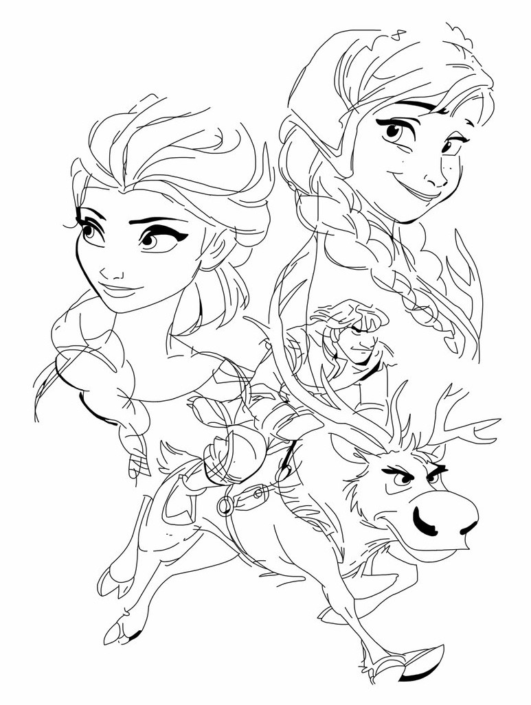 Sketsa Frozen Fever
