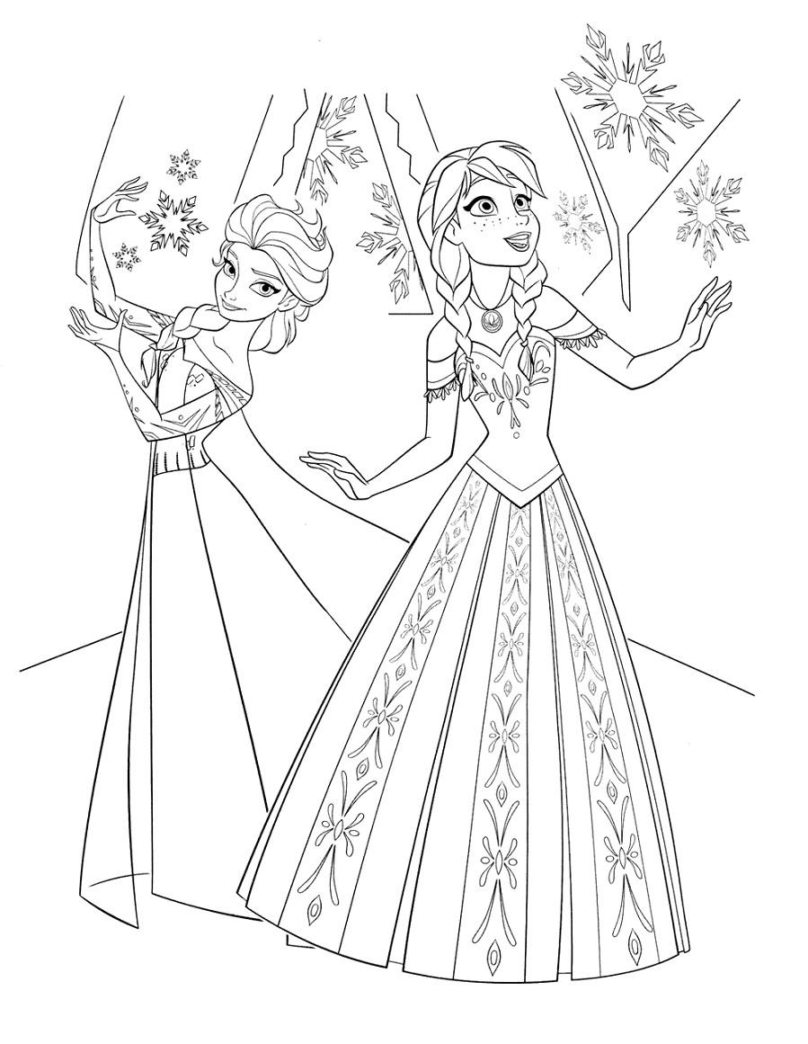 Sketsa Frozen Yang Mudah