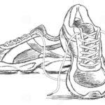 Sketsa Gambar Sepatu Sport