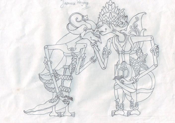 Sketsa Gambar Wayang Rama Shinta