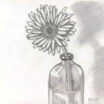 Contoh Gambar Sketsa Lukisan Bunga Bingkaigambarcom