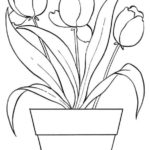 Sketsa Lukisan Bunga Simple