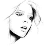 Sketsa Lukisan Kubisme Wajah