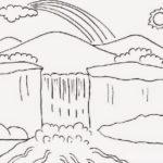 Sketsa Lukisan Tema Pemandangan