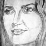 Sketsa Lukisan Wajah Perempuan