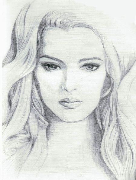 Sketsa Lukisan Wajah Wanita