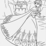 Sketsa Mewarnai Gambar Frozen