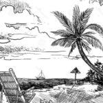 Gambar Sketsa Alam Pantai