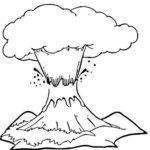 Gambar Sketsa Bencana Alam Gunung Meletus