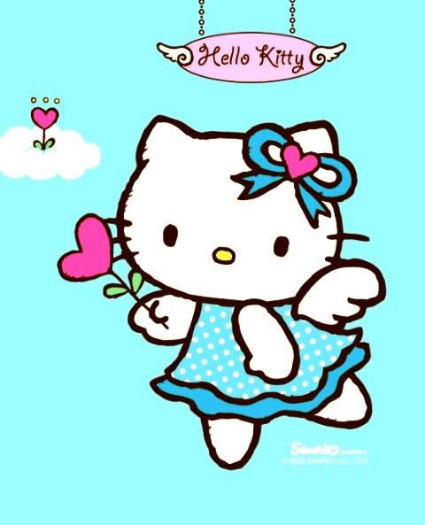 Gambar Sketsa Hello Kitty Bersayap