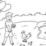 Gambar Sketsa Manusia Dengan Alam Sekitar