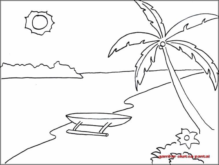Photokabalfalah Gambar Mewarnai Pantai Yang Mudah