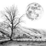 Gambar Sketsa Pemandangan Alam Sederhana
