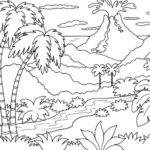 Gambar Sketsa Tema Alam Semesta