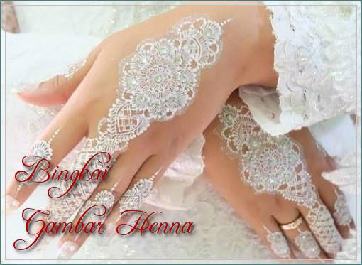 contoh henna tangan warna putih