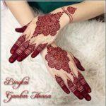 gambar henna pengantin warna merah