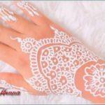 gambar henna pengantin warna putih