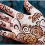 gambar henna simple dua warna