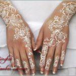 gambar henna terbaru warna putih
