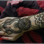 gambar henna warna hitam