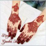 gambar henna warna merah