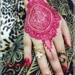 gambar henna warna pink