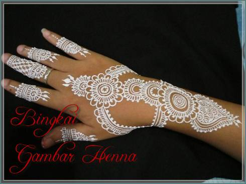 gambar henna warna putih