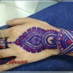 gambar henna warna ungu