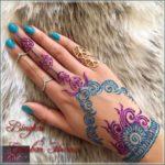 gambar henna warna warni