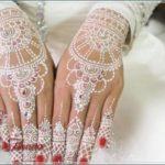 gambar henna yang warna putih