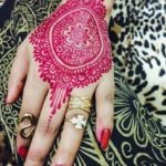 henna kuku warna pink