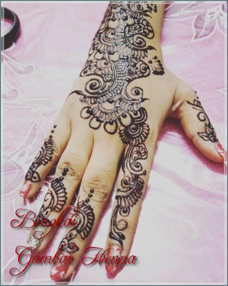 henna simple warna hitam