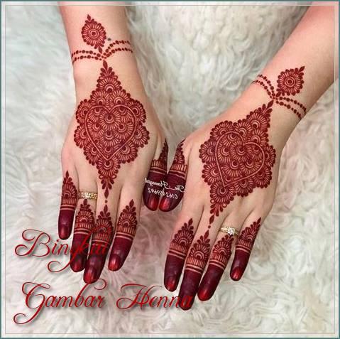 henna simple warna merah