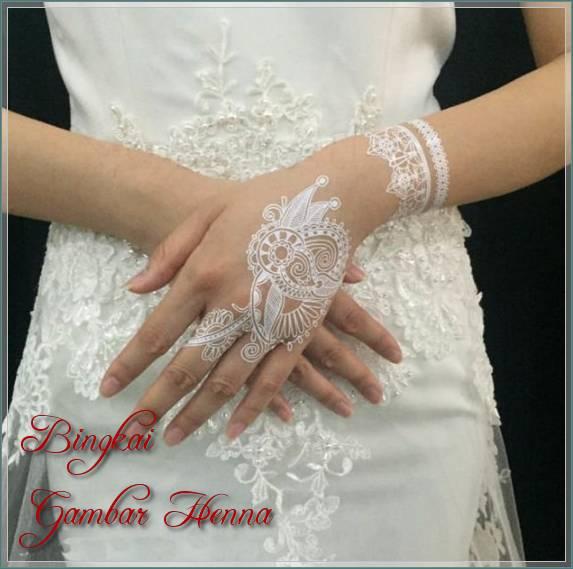 henna simple warna putih