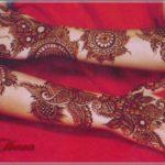 henna tangan simple warna merah