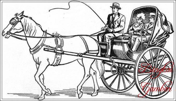 Gambar Sketsa Kereta Kuda