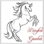 Gambar Sketsa Kuda Duduk