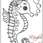 Gambar Sketsa Kuda Laut