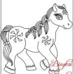 Gambar Sketsa Kuda Poni