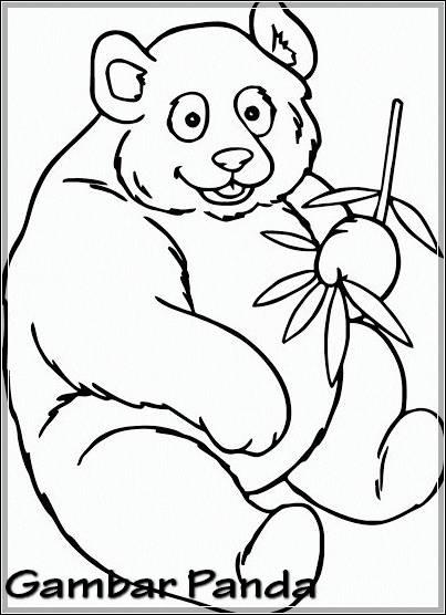 Gambar Sketsa Panda Yang Mudah