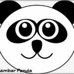 Gambar Sketsa Wajah Panda