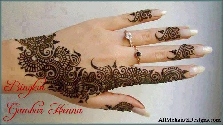 20 Gambar Henna Motif Arab Tumbuhan Dan Garis Tercantik 2019