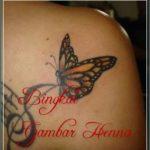 contoh gambar henna kupu kupu