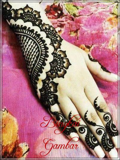 Contoh Gambar Henna Pengantin Simple Bingkaigambar Com