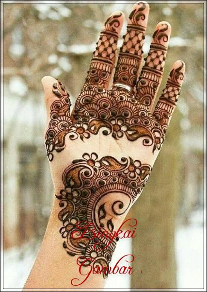 Contoh Gambar Henna Pengantin Terbaru Bingkaigambar Com