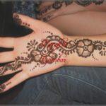 contoh henna bunga simple